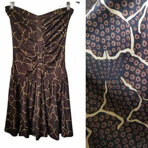 Diane Von Furstenberg women's silk strapless dress